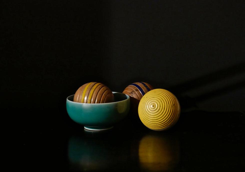Three Croquet Balls