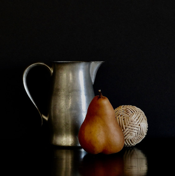 Pewter Pear Ball