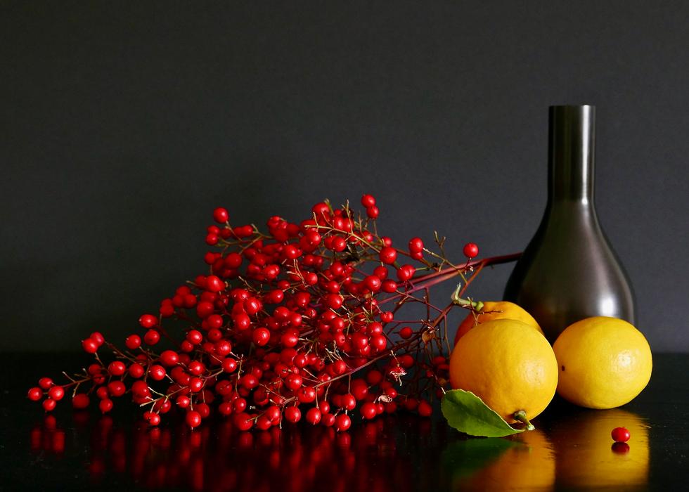 Berries, Lemons, and Black Vase.tiff