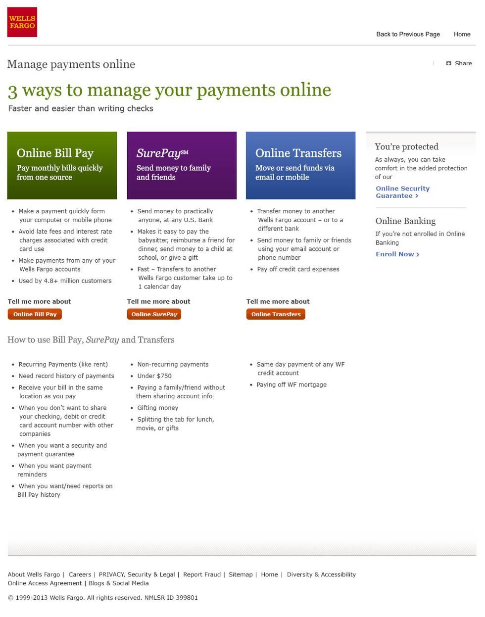Bill Pay Landing Page