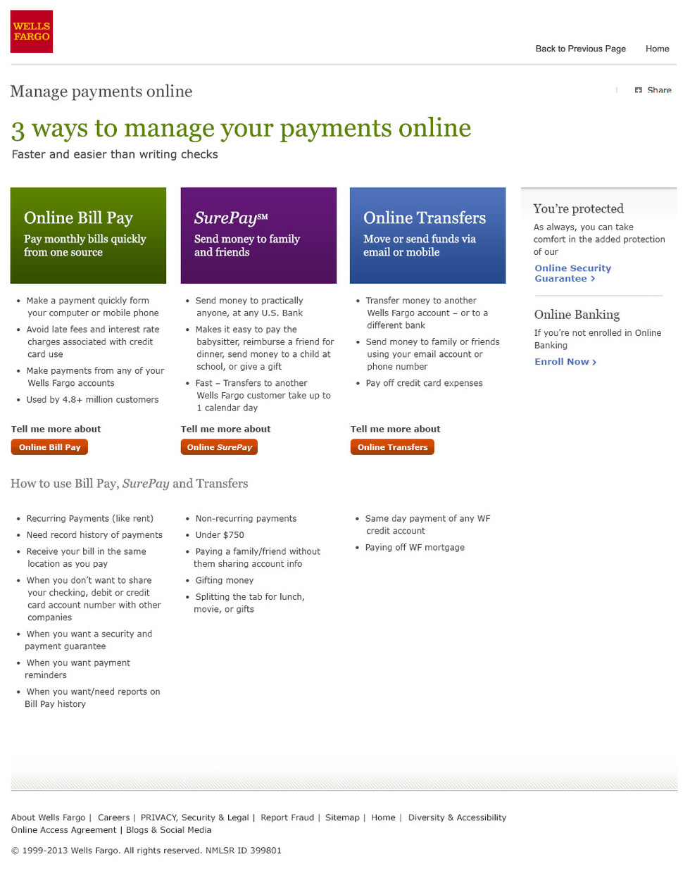 Bill Pay Landing Page
