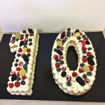 Number Cake Vanille fruits