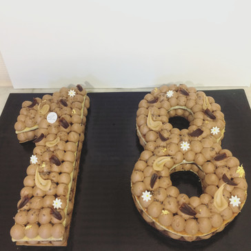 Number cake Chocolat