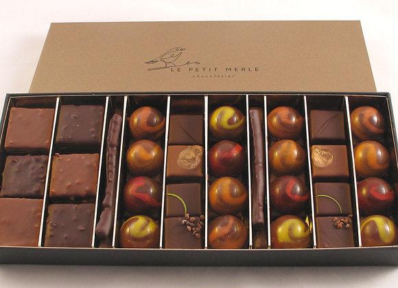 Coffret de 74 chocolats