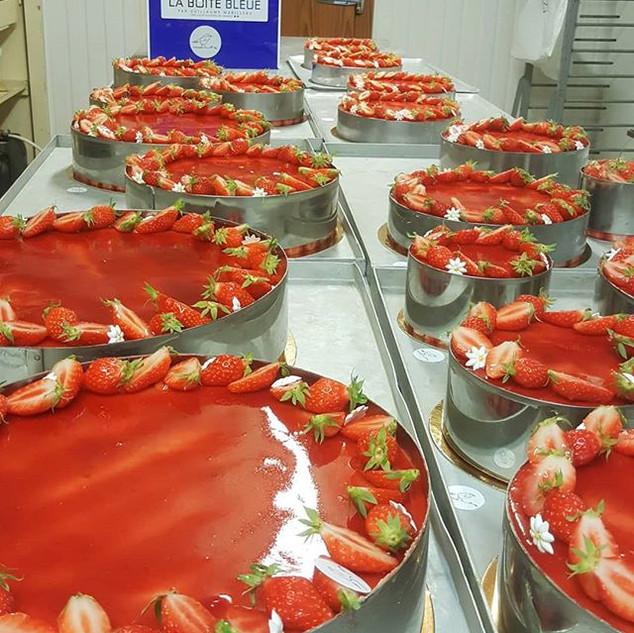 La boite bleue fraisiers