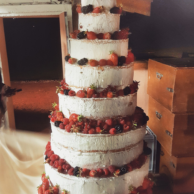 Naked cake fruits rouges