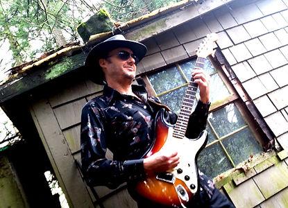John Baker playing a Fender Stratocaster