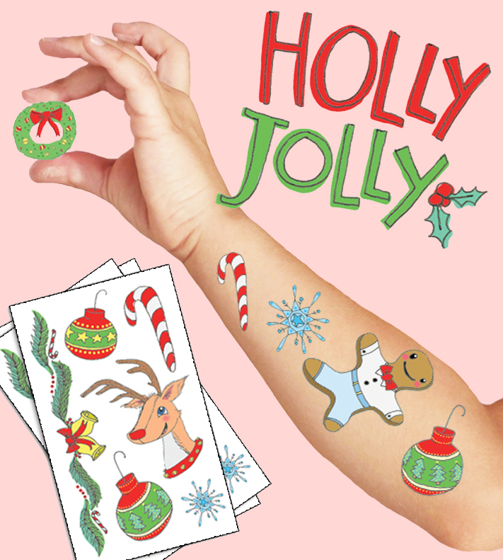 Holly Jolly Tattoo Mockup