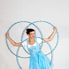 Lisa in traditional austrian, german dress