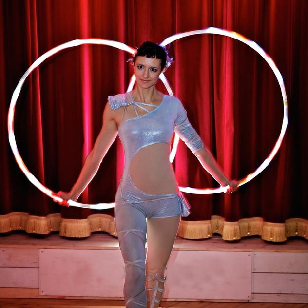 Double led hula hoop
