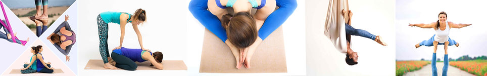 Entdecke die Flow Yoga Mulit-Styles: Yin Yoga, Aerial Yoga, Acro Yoga, Vinyasa Flow, Hands-On Assist und Adjustements.