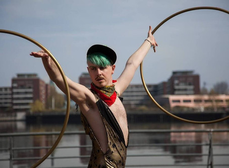 Aerial Arts Festival Spiced up with Hula Hoop tricks