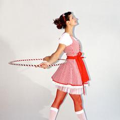 Lisa Looping in traditional folk dress