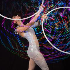 Led Light Multi Hula Hoop performance