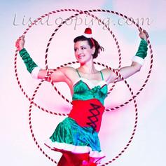Christmas Hula Hoop Performance