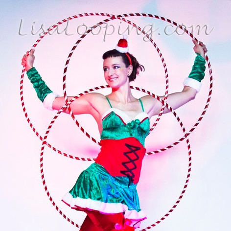 Christmas Hula Hoop Performance