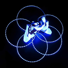 UV Hula Hoop from the top