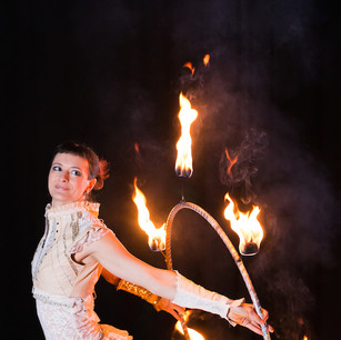 Fire Hula Hoop Performance by Lisa Looping