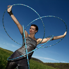 Outdoor Hula Hoop Performance