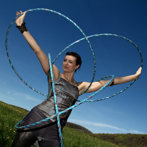 Outdoor Hula Hoop Performance