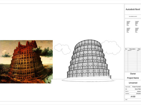 Why did I model the Babylon tower In Revit