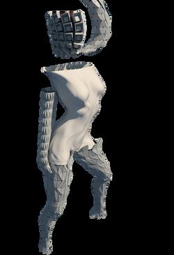 Revit Cyborg Girl Render