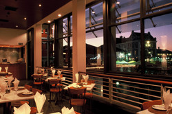 From the restaurant mezzanine