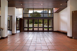 From entrance foyer to garden