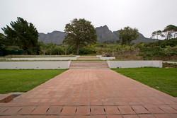 Garden view towards mountain