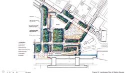 Landscape plan of Public Square