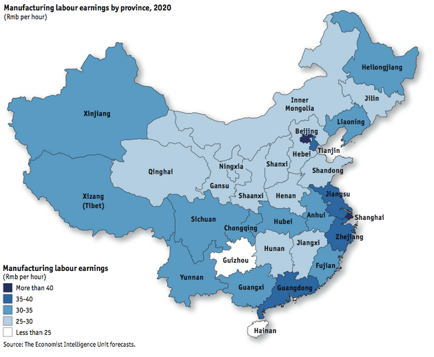 China's Evolving Labor Cost Outlook