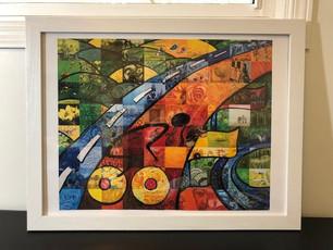 FASM Pan Am print framed