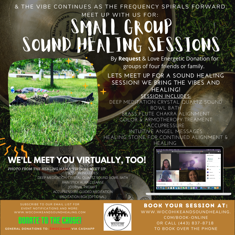 SMALL GROUP SOUND HEALING SESSION