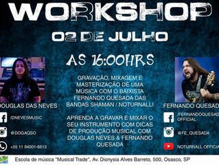 Workshop Gratuito de Produção Musical com Douglas Neves e Fernando Quesada (Noturnall e Shamann)
