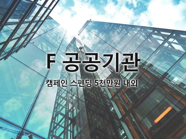 F 공공기간 / 캠페인 스펜딩 5천만원 내외