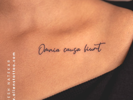 Quote Tattoos and why they are perfect for your lifestyle