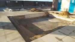 excavating baby pool steps