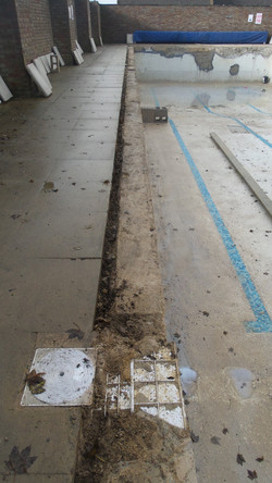 exposing skimmers and the decayed concrete ringbeam