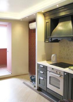 Кухня_1_в нише планируется диванчик