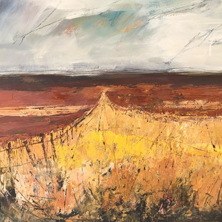 Summer Fields, Mixed Media on paper,60x4