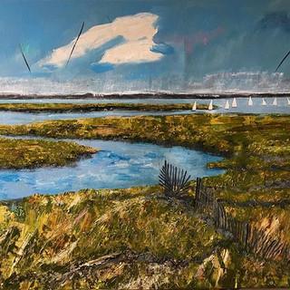 Blakeney, acrylic on canvas,framed 100x80cms,£300.00