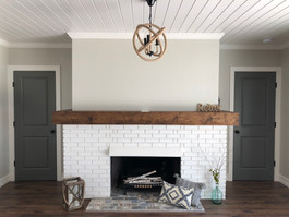 Fire Place & Custom Mantle