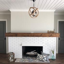Customer Fireplace & Mantil