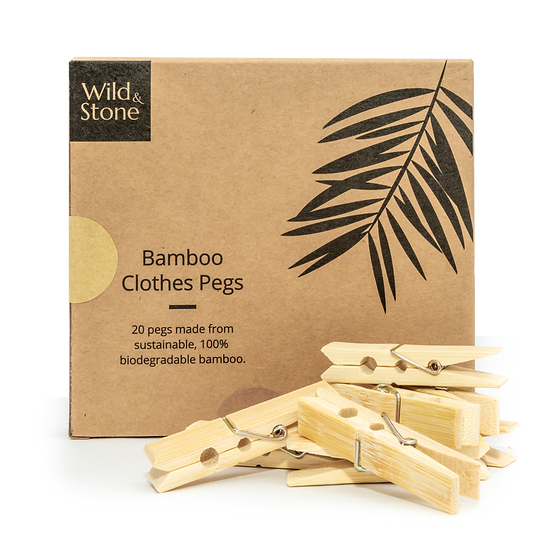 Bamboo Laundry Pegs