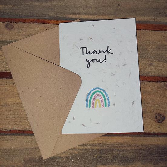 Plantable Thank you Card