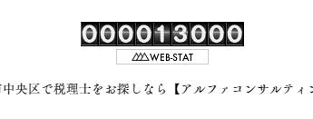 訪問者数が13,000人になりました。
