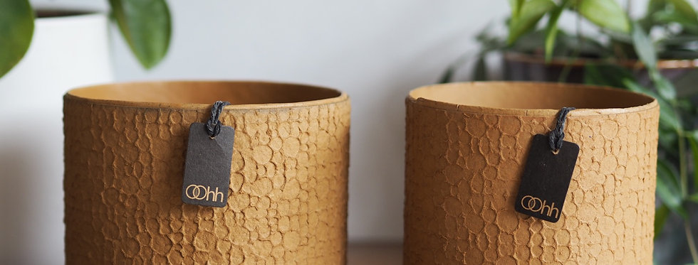 A stunning pair of Ocre handmade Oohh Pots