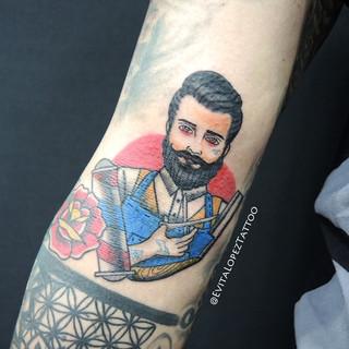 Barber Old School Tattoo_Evita Lopez_The