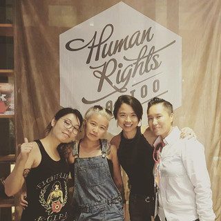 Evita with Carrie Sze and Friend at Huma