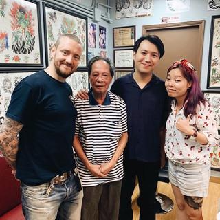 Evita with John Jimmy Ho and Justin.JPG
